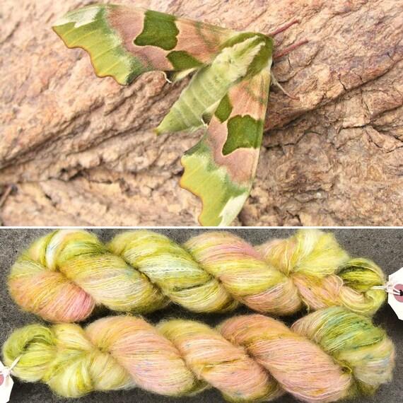 Summer Hawkmoth Cloud 50g, baby suri alpaca and mulberry silk yarn