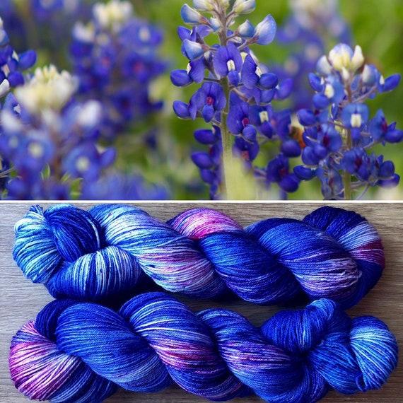 Bluebonnet BFL, bluefaced leicester nylon blend sock yarn