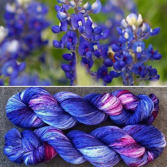 Bluebonnet, merino nylon blend sock yarn