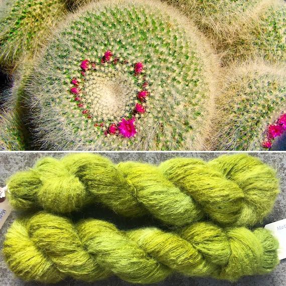 Cactus Fluff 50g, baby suri alpaca and mulberry silk yarn