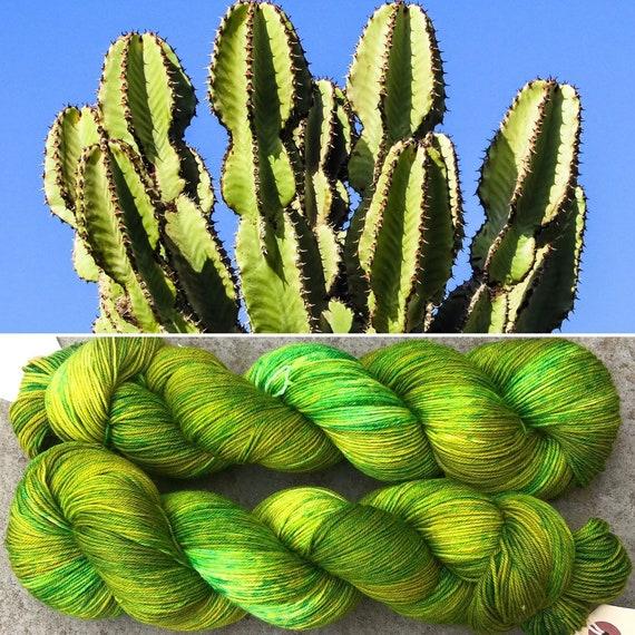 Cactus, indie dyed merino nylon sock yarn