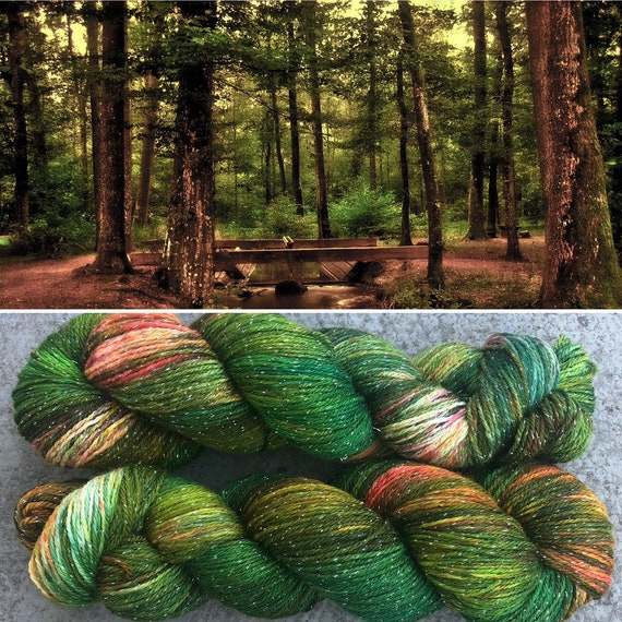 Autumn is Coming Sparkle Sock, indie dyed merino nylon yarn