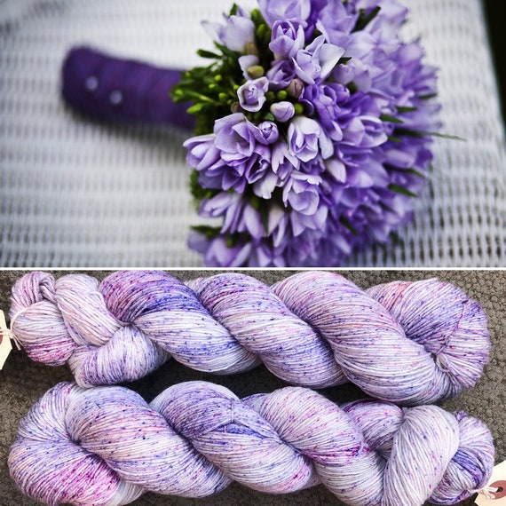 Purple Bouquet, indie dyed merino nylon sock yarn