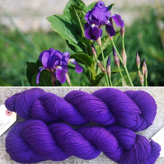 Intense Iris, merino nylon sock yarn