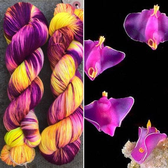 That's Enough Crazy, merino nylon nudibranch theme sock yarn