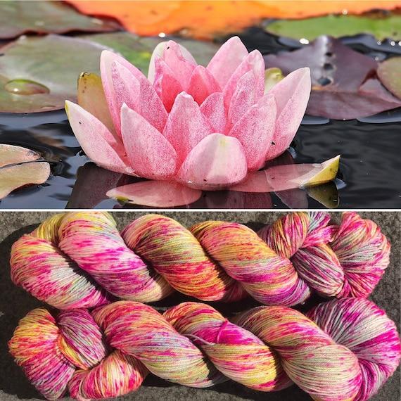 Waterlilies, merino nylon indie dyed sock yarn