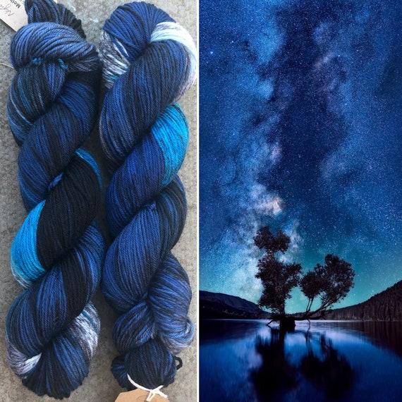 Night Sky DK merino nylon indie dyed sock yarn