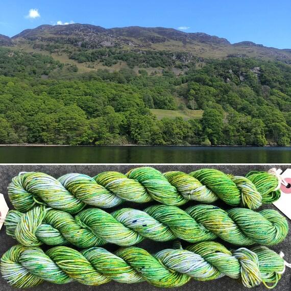 Loch Lomond 20g Miniskein, indie dyed merino nylon sock yarn