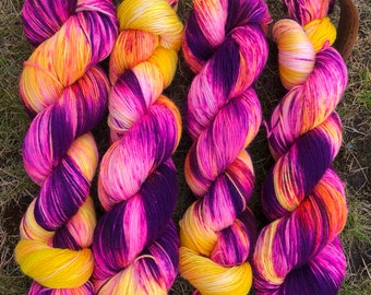 That's Enough Crazy BFL, bluefaced leicester nylon sock yarn