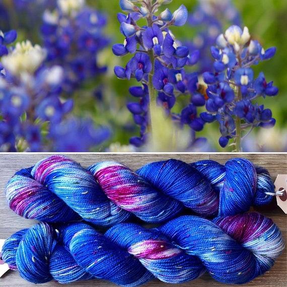 Bluebonnet Donegal Sock, merino yarn with multicoloured neps