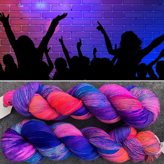 End of Term Party, merino nylon indie dyed sock yarn