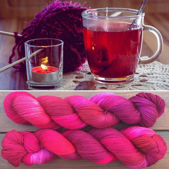 Mulled Wine, 4ply merino nylon indie dyed sock yarn