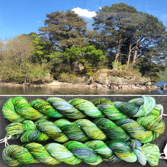 Inveruglas Isle 20g Miniskein, indie dyed merino nylon sock yarn