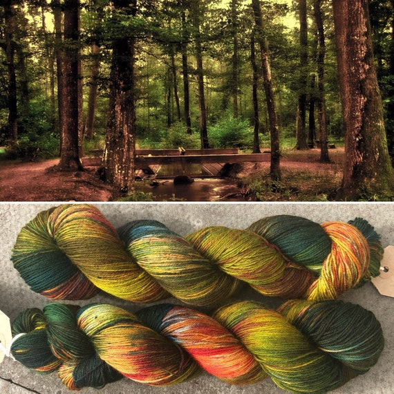Autumn is Coming BFL, indie dyed bluefaced leicester nylon sock yarn