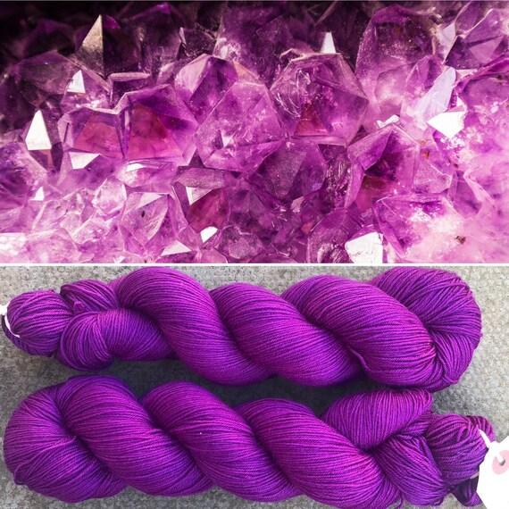 Amethyst, merino nylon sock yarn