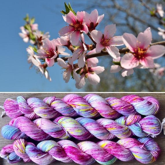 Cherry Blossom 20g Miniskein, indie dyed merino nylon sock yarn