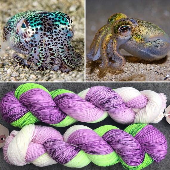 Dumpling Squid, merino nylon blend speckled sock yarn