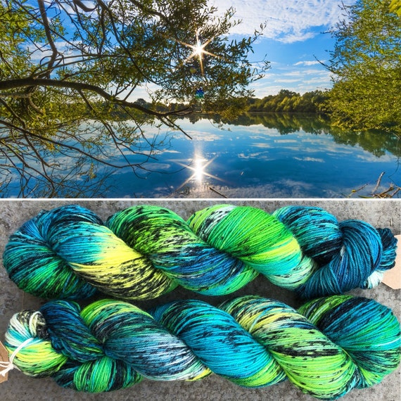 Hidden Reeds BFL, bluefaced leicester nylon sock yarn