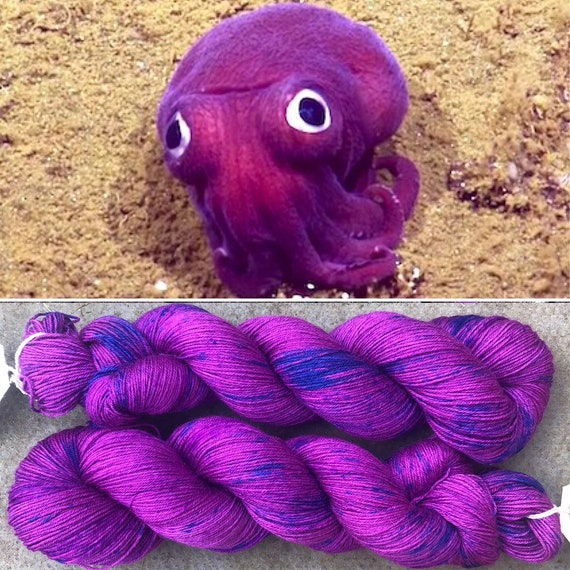 Speckled Squid, 75/25 merino nylon indie dyed sock yarn