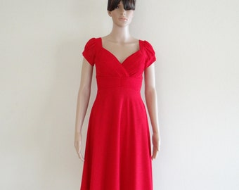 145bcfbc8a4 Red Bridesmaid Dress. Dress With Sleeves