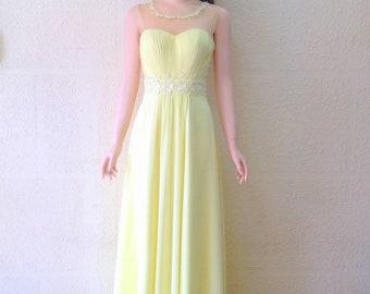 Yellow Prom Dress Etsy