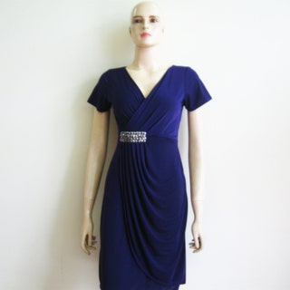 Navy Blue Bridesmaid Dress. Dress With Sleeves
