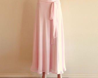 Maxi Skirt. Blush Pink Bridesmaid Skirt.