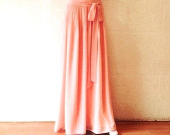 Sunset Maxi Skirt. Sunset Bridesmaid Skirt. Long Evening Skirt. Chiffon Floor Length Skirt.