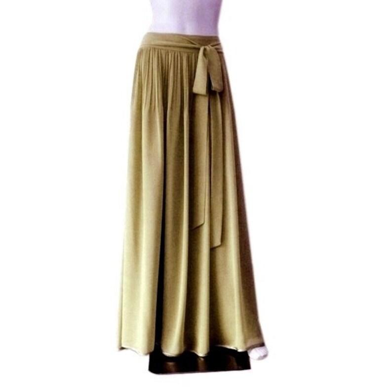 42cd914fc20b Dark Khaki Green Maxi Skirt. Dark Khaki Green Bridesmaid   Etsy