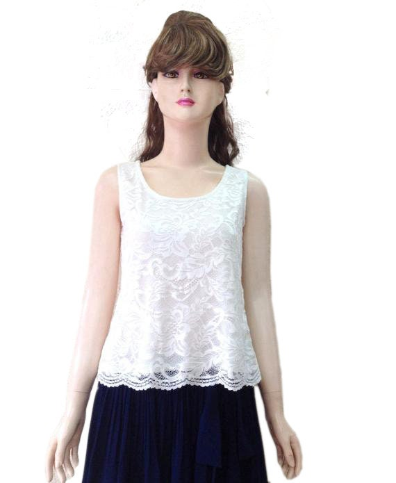 Off White Bridesmaid Top Off White Tank Top Stretch Lace Etsy