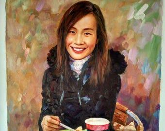 8695d8ff1c 100% hand painted commission portrait painting , paint from digital  photos/images , custom portrait oil painting