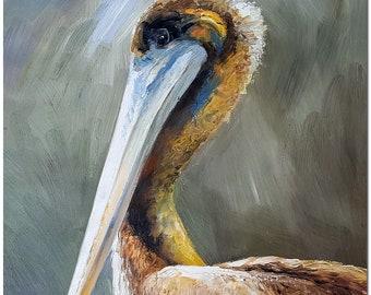 Bird Oil Painting Etsy
