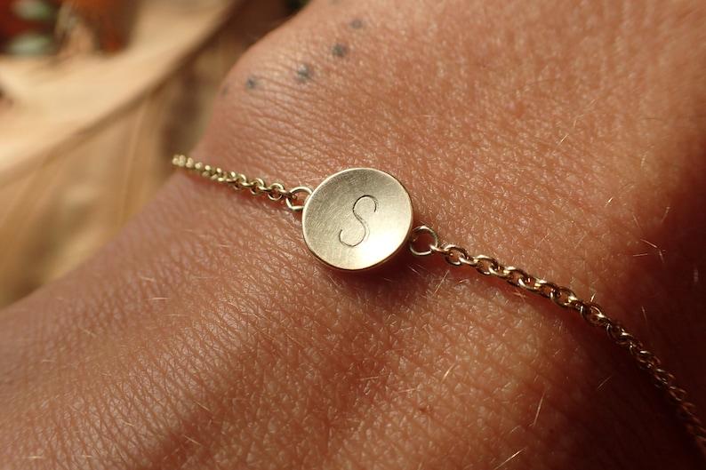 14 k Gold Bracelet minimal bracelet gold matt personalized image 0