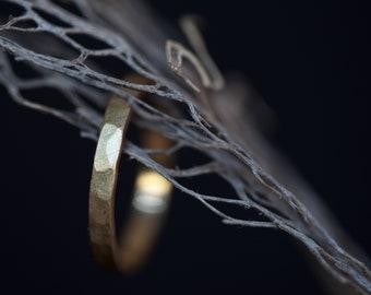 Hammered gold ring 14k, men's ring hammered, textured gold ring, hammered ring for men, unisex gold ring, 14k wedding ring, handmade ring