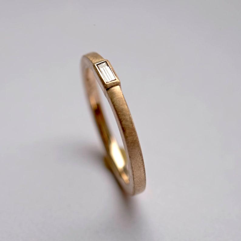 Baguette diamond ring Baguette Bezel Diamond Solitaire image 0