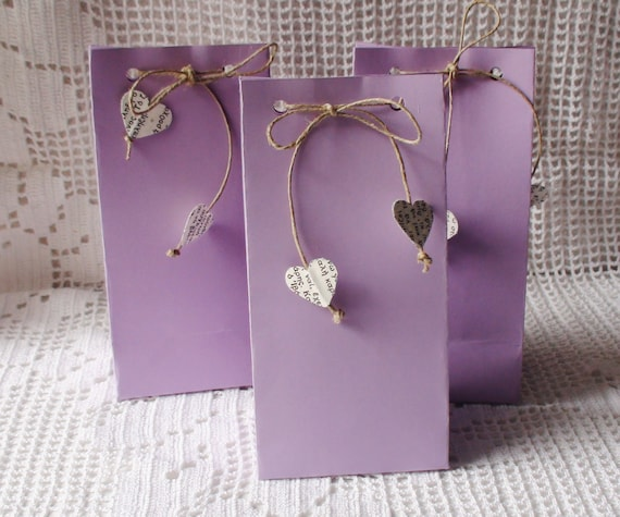 Lavender Favor Bags Birthday Favors Baby Shower Gift Wrapping Etsy