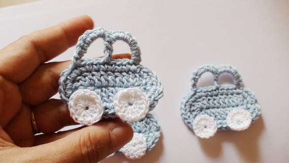 Luce applique di auto blu all uncinetto baby shower etsy