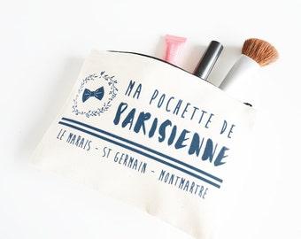 Parisian pouch - organic cotton