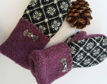 Lambswool mittens,wool mittens, felted wool mittens, winter accessory,mittens gloves women's gloves woman's mittens made in Michigan mittens