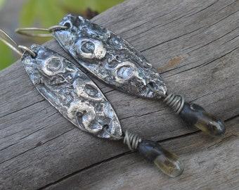 Crustaceans-  Handmade Fine Silver Dangles