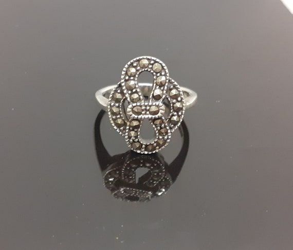 D17.25mm US 4.7g size 7 hallmarked 925 solid silver massive ring