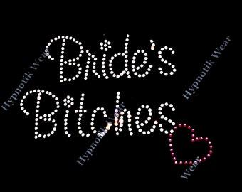 rhinestone transfer brides bitches wedding hotfix iron on bling bridal shower