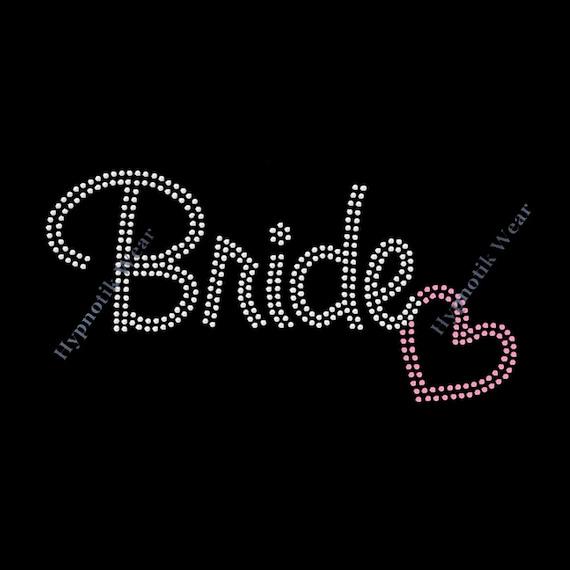 """/""""BRIDE/"""" Weddubg Celebration Iron On Rhinestone Trasfer"""