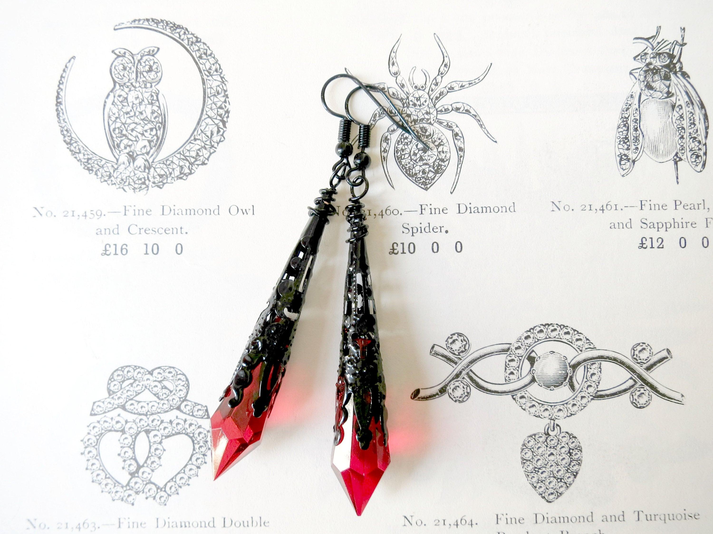 Vamp style long earrings 98