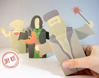 DIY Kit Large Harry Potter Snape Dumbledore Dobby Emotibox Greeting Card Birthday