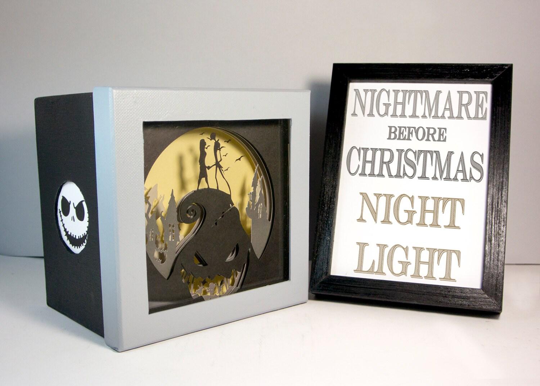 Alptraum vor Weihnachten Shadow Box Nachtlicht einzigartiges   Etsy