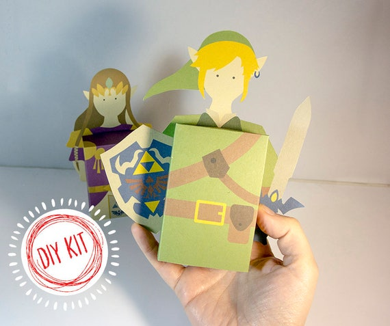 Diy Kit Large Zelda Link Emotibox Funny Card Birthday Card Etsy