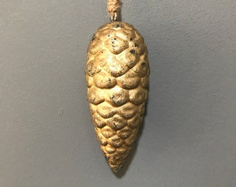 Gold Faux PIne Cone Christmas Decoration, Christmas Ornament. PIne Cones. WInter Decoration