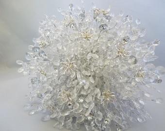Brides bouquet - Beaded bouquet - Great brooch alternative - Silver bouquet - crystal bouquet -diamante bouquet - flower bouquet - wedding