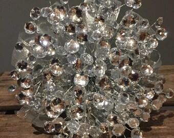 Silver sparkle wedding bouquet. New years eve wedding. Winter wedding. Brooch bouquet alternetive.